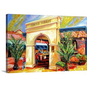 'Sunny French Market' by Diane Millsap Painting Print on Canvas by Canvas On Demand