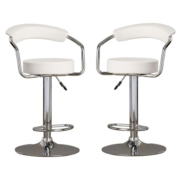 Park Place Modern Adjustable Height Bar Stool (Set of 2) by Orren Ellis