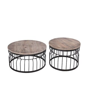 Coupon Gurdon Reclaimed Wood 2 Piece Coffee Table Set ByWilliston Forge