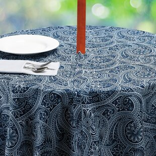 outdoor umbrella tablecloth wayfair rh wayfair com patio tablecloth with umbrella hole zipper outdoor tablecloth with umbrella hole round