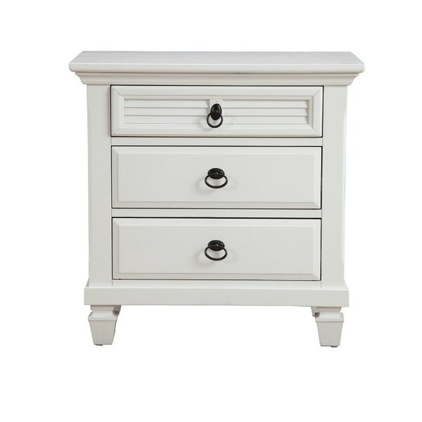 Chatman Pine Wood 3 Drawer Nightstand by Longshore Tides