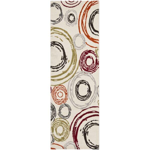 Charis Geometric Ivory Area Rug by Ebern Designs