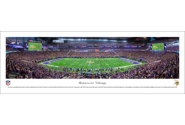 NFL MN Vikings 1st Game at US Bank Stadium Photographic Print by Blakeway Worldwide Panoramas, Inc