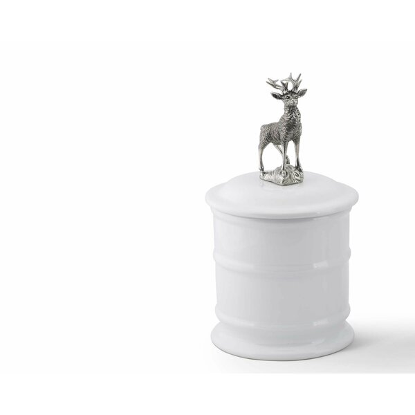 Lodge Stoneware Kitchen Canister with Elk Topper by Vagabond House