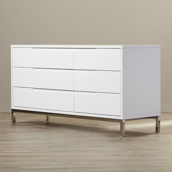 Keynsham 6 Drawer Double Dresser by Wade Logan