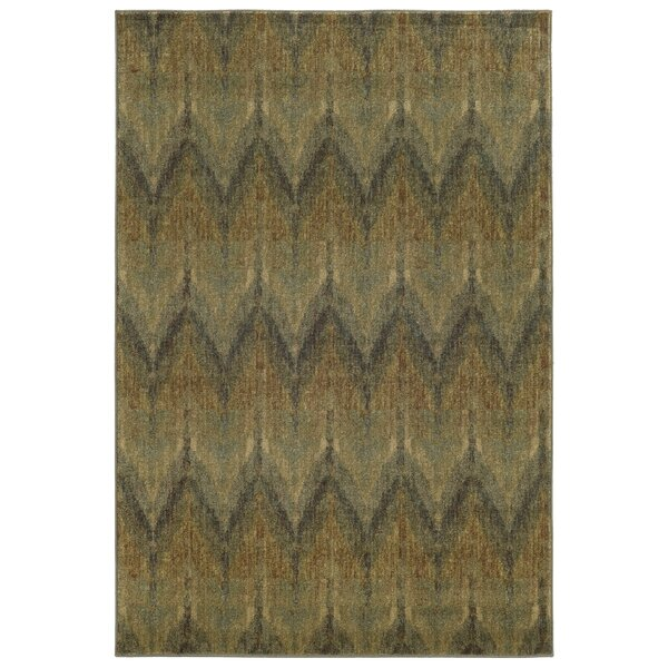 Tommy Bahama Voyage Blue / Beige Geometric Rug by Tommy Bahama Home