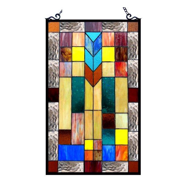 Mosaic Design Window Panel by Astoria Grand