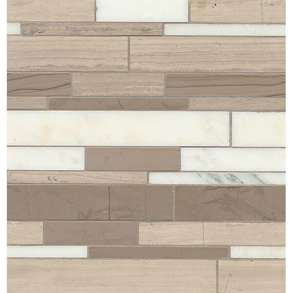 Maison Random Sized Marble Mosaic Tile in Penthouse Linear by Bedrosians
