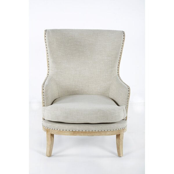 Leilani Exposed Frame Wingback Chair By One Allium Way