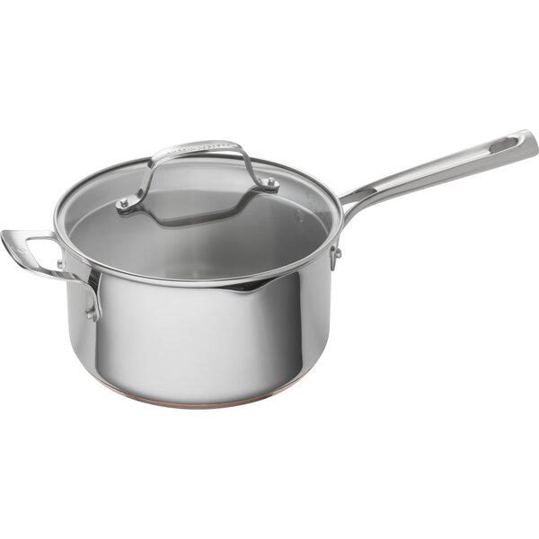 4 qt. Stainless Steel Copper Core Sauce Pan with Lid by Emeril Lagasse