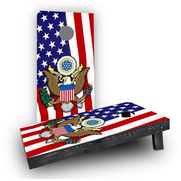 United States Seal Cornhole Boards (Set of 2) by Custom Cornhole Boards