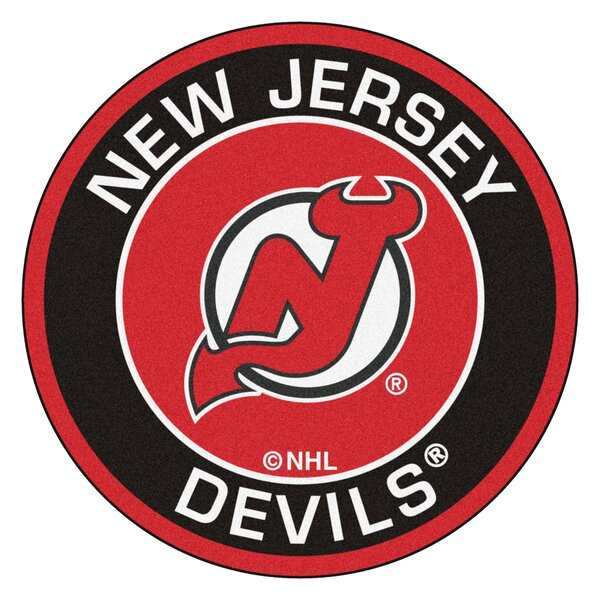 NHL New Jersey Devils Roundel Mat by FANMATS
