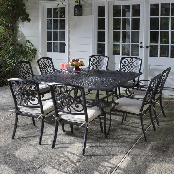 Wrightsville 9 Piece Dining Set with Cushion by Darby Home Co