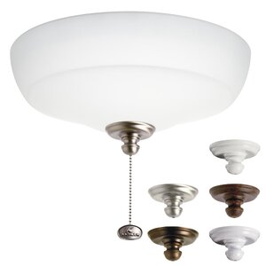 3-Light Bowl Ceiling Fan Light Kit