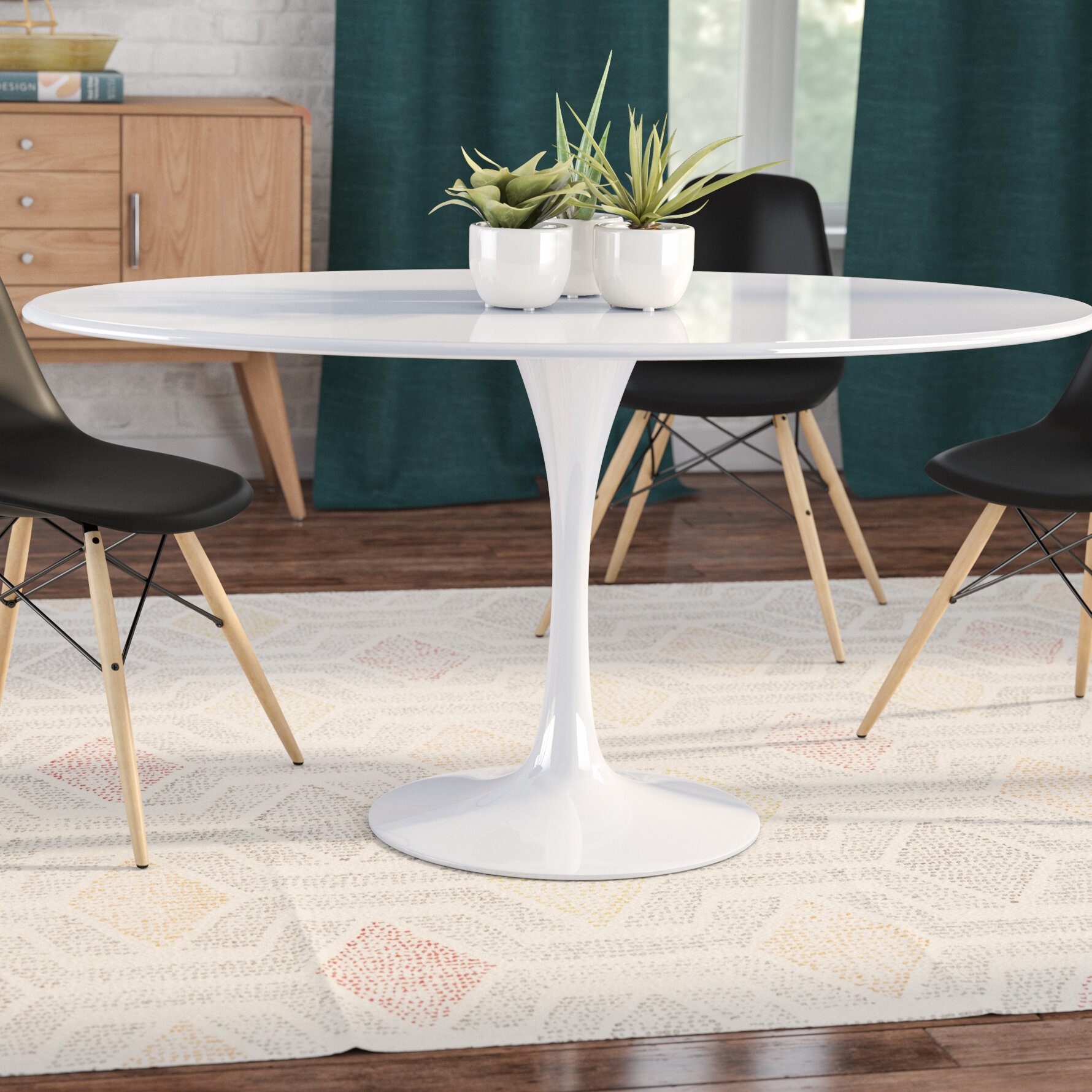 Oval Dining Room Sets | Langley Street Julien Oval Dining Table Reviews Wayfair