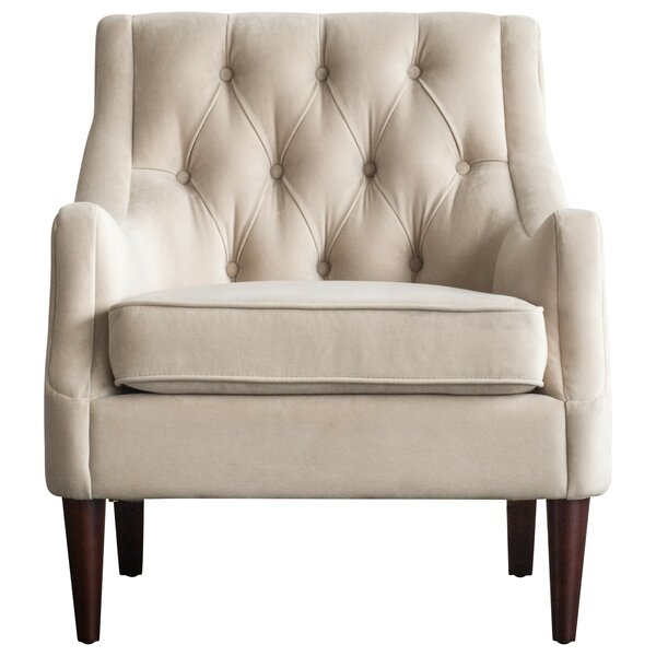 Koss Tufted Armchair by House of Hampton House of Hampton