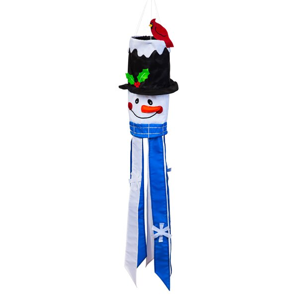 Snowman Applique Sculpt Nylon Windsock by The Holiday Aisle