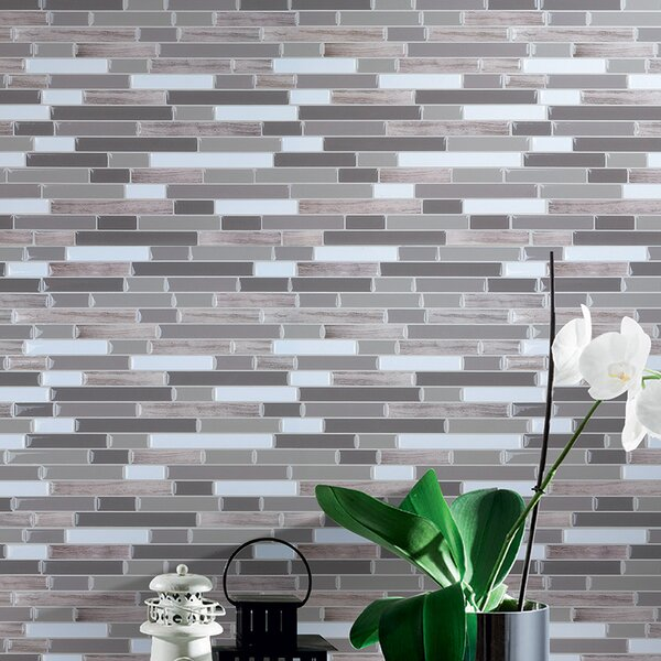 12 x 12 Marble Peel & Stick Mosaic Tile in Gray by Art3d