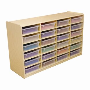 Savings 24 Compartment Cubby with Casters ByWood Designs