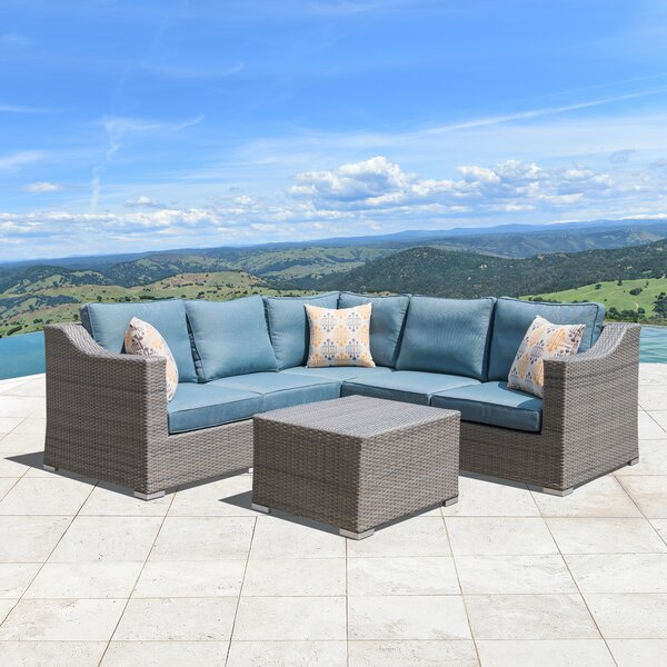 Boyce 6 Piece Sectional Seating Group with Cushions by Rosecliff Heights