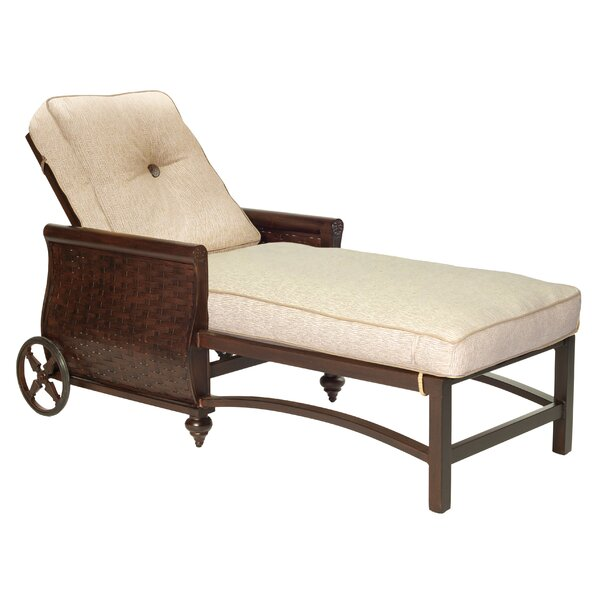 French Quarter Chaise Lounge with Cushion by Leona