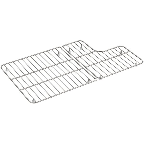 2 Piece Whitehaven Stainless Steel Rack for Whitehaven K-5826/5827 Sinks by Kohler