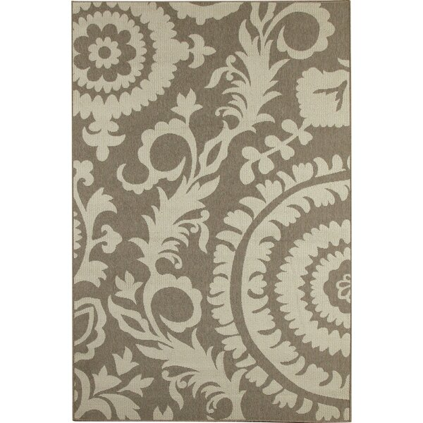 Hattie Natural & Parchment Indoor/Outdoor Rug by Birch Lane™