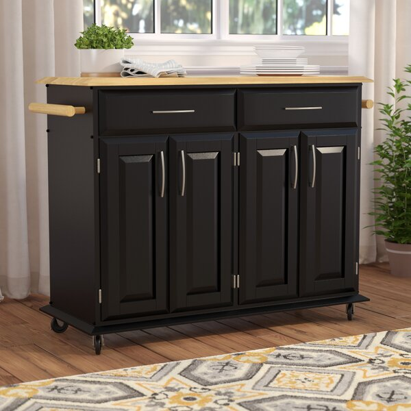 Hamilton Kitchen Island with Wood Top by Charlton Home
