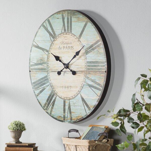 Oversized 29 Oval Wall Clock By Lark Manor.