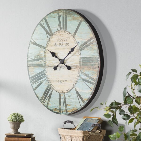 Oversized 29'' Oval Wall Clock by Lark Manor