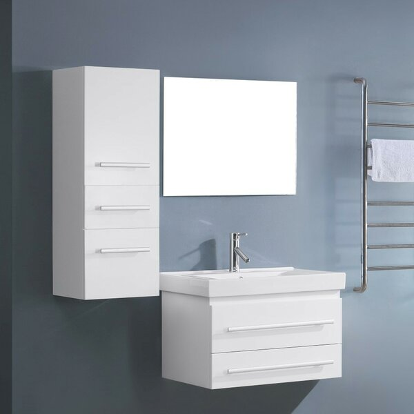 Massimo 29 Single Bathroom Vanity Set with Mirror by Orren Ellis
