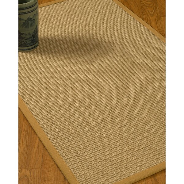 Jacobs Border Hand-Woven Beige/Sage Area Rug by Bloomsbury Market
