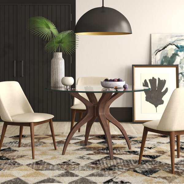 Elderton Solid Wood Dining Table by Mercury Row
