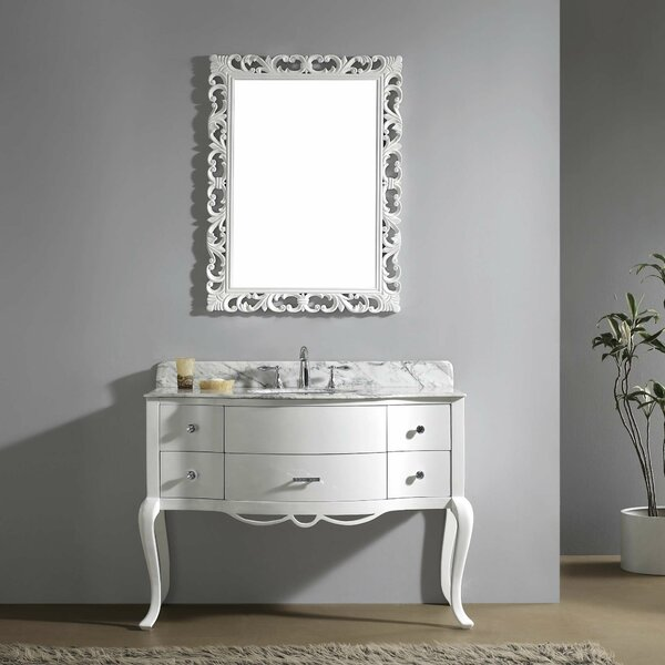 Polak 47 Single Bathroom Vanity Set with Mirror by One Allium Way