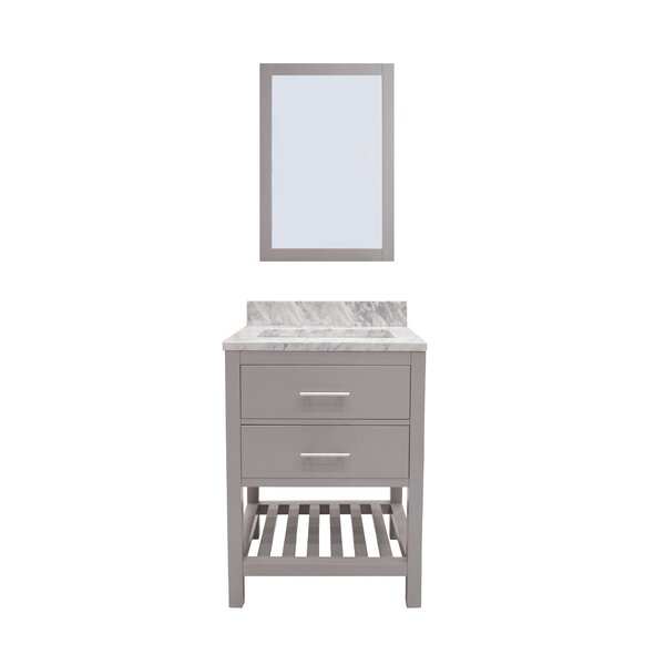 Rizer 36 Single Bathroom Vanity with Mirror by Willa Arlo Interiors