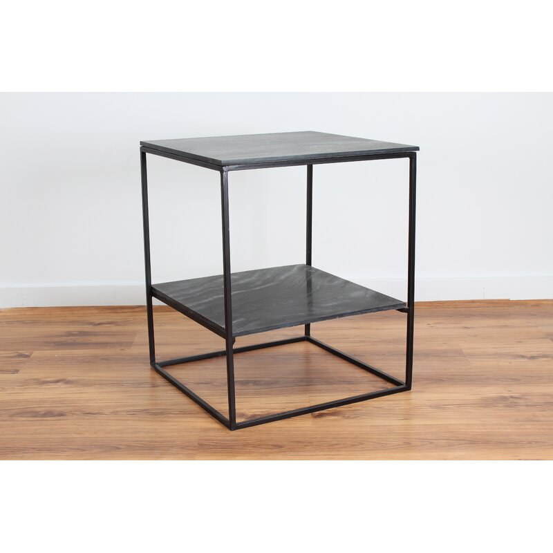 Sharen Slate Side End Table