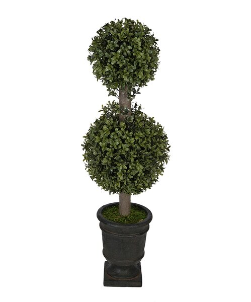 Artificial Boxwood Double Ball Topiary in Urn by House of Silk Flowers Inc.
