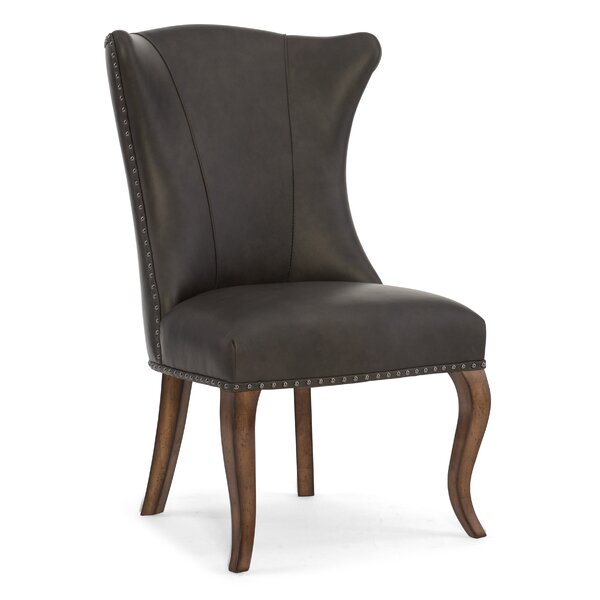 Leather Genuine Leather Upholstered Dining Chair (Set of 2) by Hooker Furniture