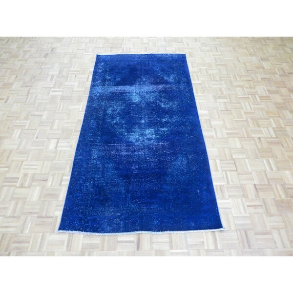 One-of-a-Kind Padro Hand-Knotted Blue/Purple Area Rug by Bloomsbury Market