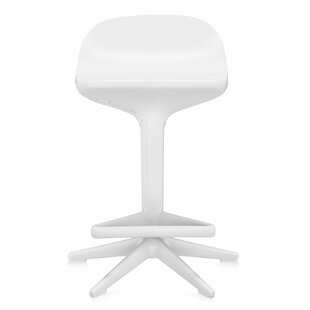Adjustable Height Swivel Spoon Stool by Kartell