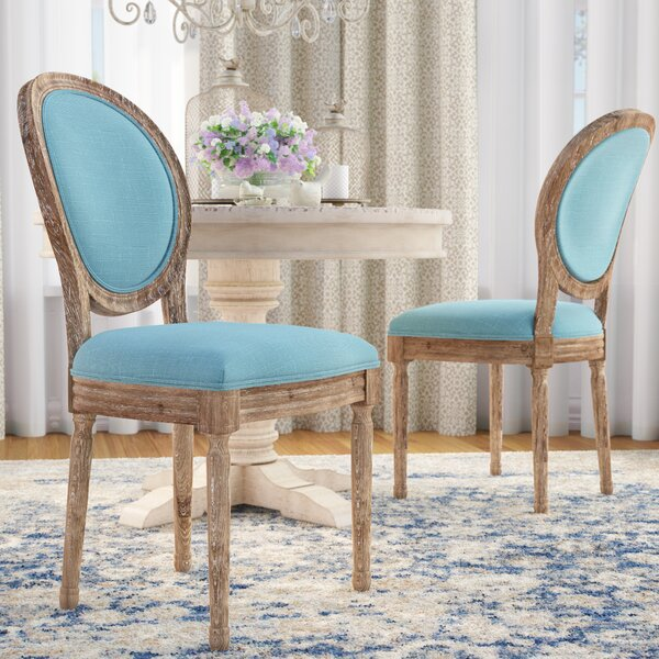 Patel Round Back Upholstered Dining Chair (Set of 2) by One Allium Way