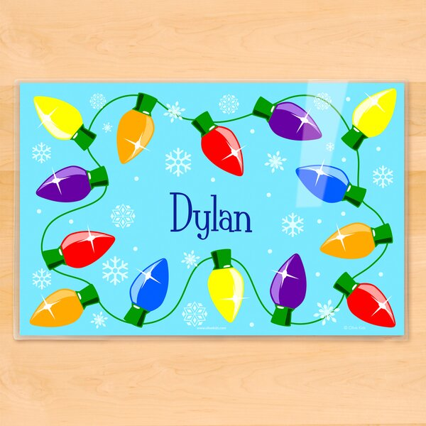 Christmas Lights Personalized Placemat by Olive Kids