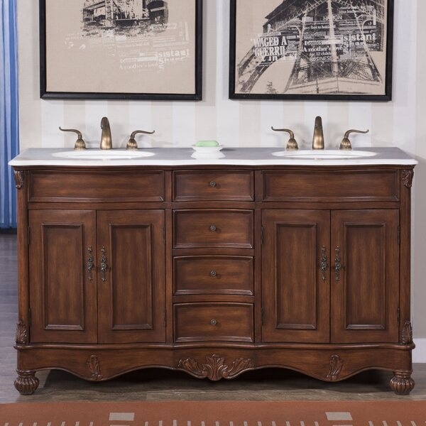 Torrey 60 Double Bathroom Wood Base Vanity Set by Astoria Grand