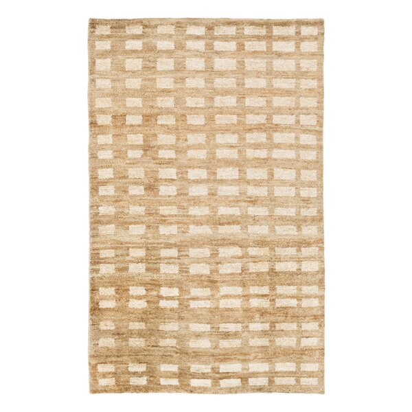Blocks Hand Knotted Jute Camel Area Rug by DwellStudio