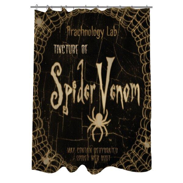 Spider Venom Shower Curtain by One Bella Casa