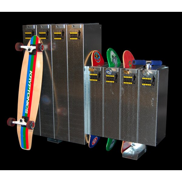 1 Tier 8 Wide Gym Locker by Skateboard Lockers