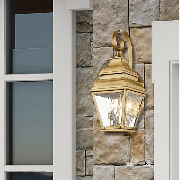 Weisberg 2-Light Outdoor Wall Lantern by Charlton Home