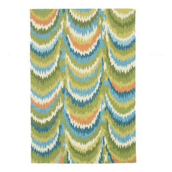 Grenkie Hand-Woven Green/Blue Area Rug by Ebern Designs