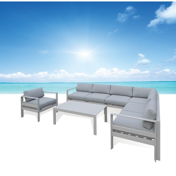 Houston Deep Seating Group with Sunbrella Cushions by Orren Ellis