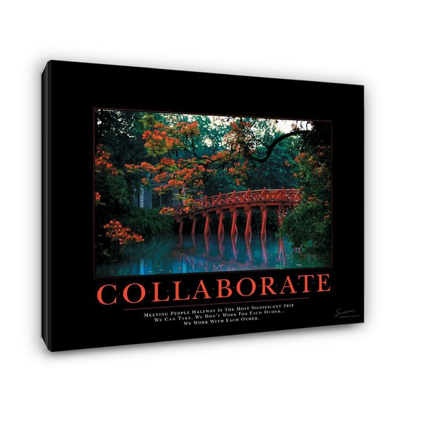 Collaborate Bridge Motivational Photographic Print on Wrapped Canvas by Successories